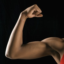 Photo of woman's muscular arm